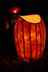 """Pitcher Plant"" Pumpkin.  By Colter Leys.  Halloween 2010"