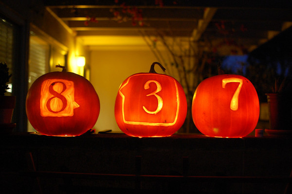 Address Pumpkins.  By Alyson Thomas and Isabel O'Meara.  Halloween 2010